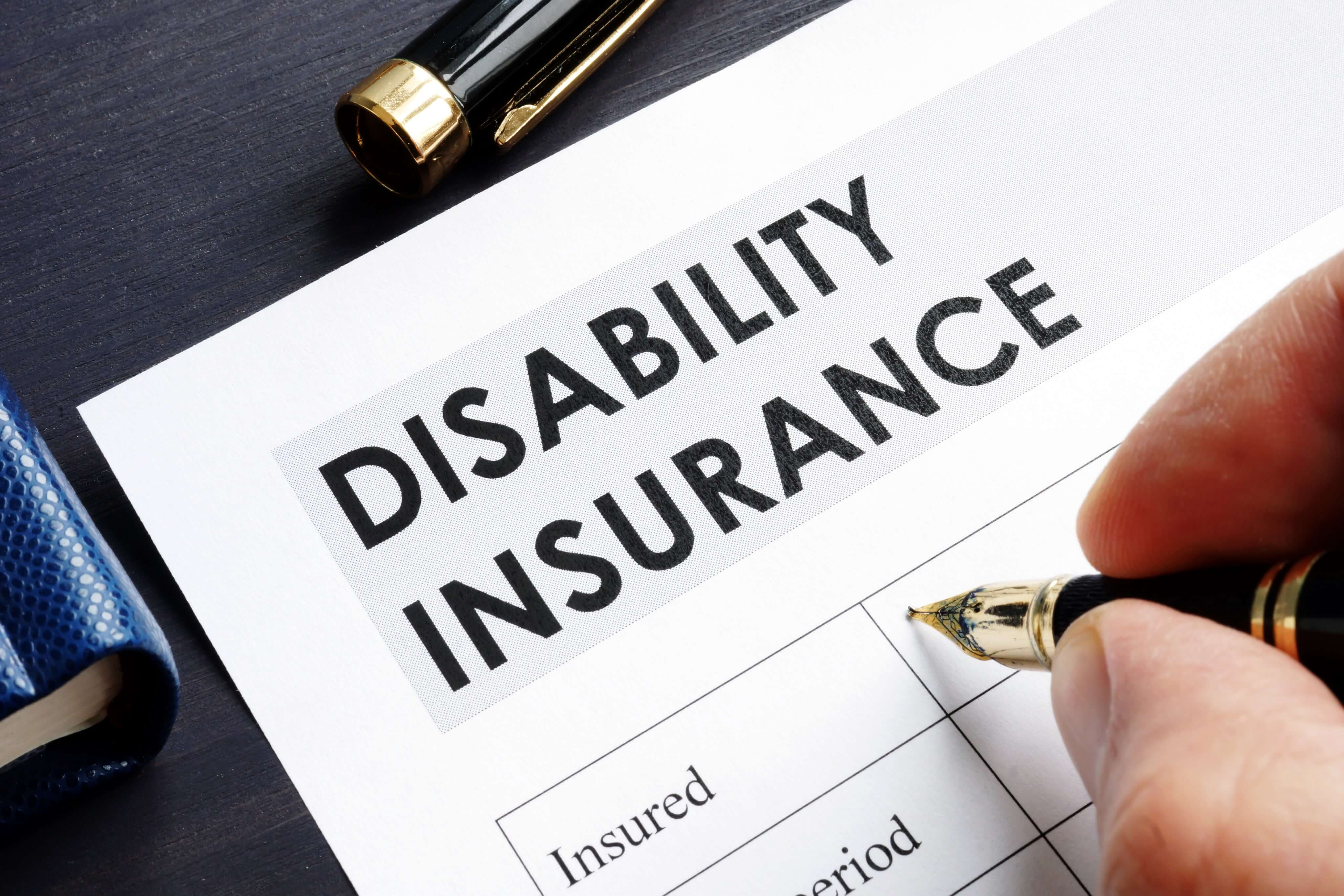 filling out disability insurance form